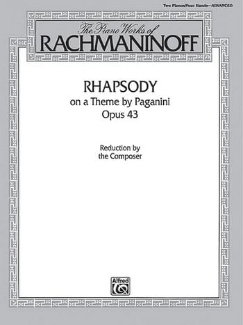 RACHMANINOV - Rhapsody On A Theme Of Paganini Opus 43. 2 pianos - Partition - di-arezzo.co.uk