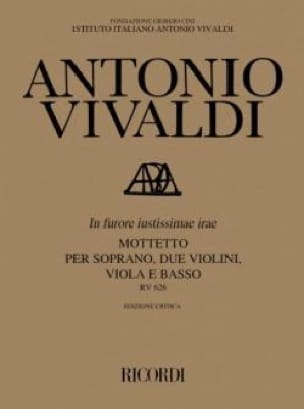 VIVALDI - In Furore Justissimae Irae RV 626 - Partition - di-arezzo.co.uk