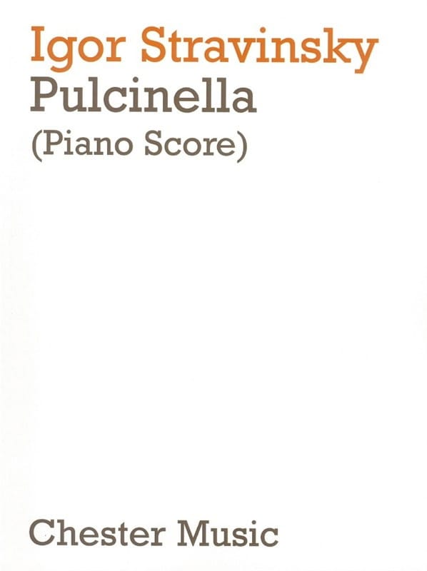 Pulcinella - Igor Stravinski - Partition - Opéras - laflutedepan.com