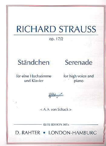 Ständchen Opus 17-2 Voix Haute - Richard Strauss - laflutedepan.com