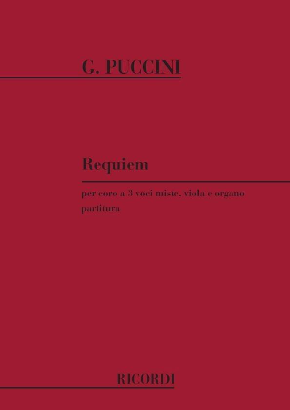 Giacomo Puccini - Requiem - Partition - di-arezzo.co.uk