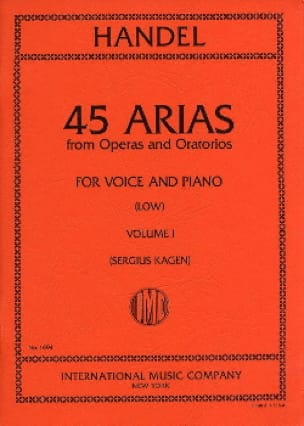 HAENDEL - 45 Arias Volume 1. Serious Voice - Partition - di-arezzo.com