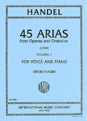 HAENDEL - 45 Arias Volume 2. Serious Voice - Partition - di-arezzo.co.uk