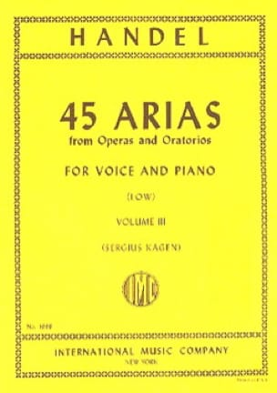 HAENDEL - 45 Arias Volume 3. Serious Voice - Partition - di-arezzo.co.uk