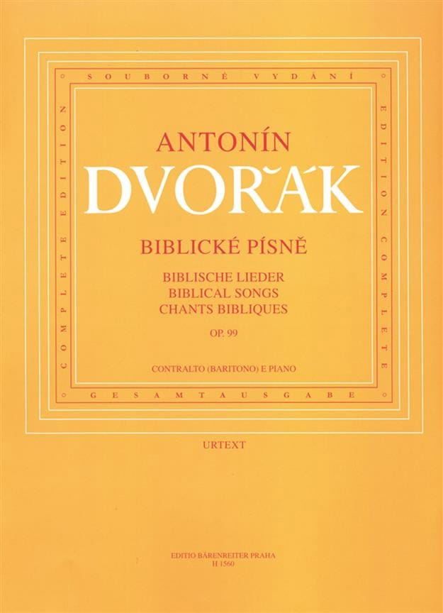DVORAK - Biblische Lieder Opus 99. Medium Voice - Partition - di-arezzo.co.uk