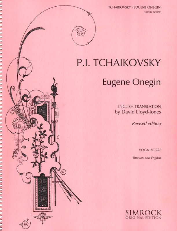 TCHAIKOWSKY - Eugene Onegin Opus 24 - Partition - di-arezzo.co.uk
