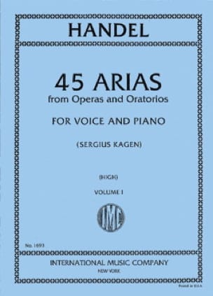 HAENDEL - 45 Arias Volume 1. High Voice - Partition - di-arezzo.co.uk