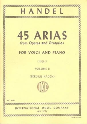 HAENDEL - 45 Arias Volume 2. High Voice - Partition - di-arezzo.co.uk