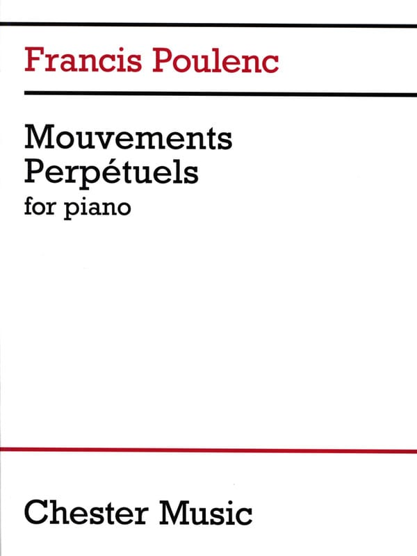 Francis Poulenc - 3 Perpetual Movements - Partition - di-arezzo.co.uk