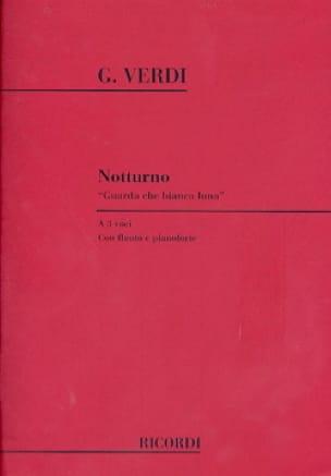 Notturno guarda Che Bianca Luna - VERDI - Partition - laflutedepan.com