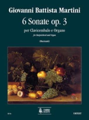 6 Sonates Op. 3 - Giambattista Martini - Partition - laflutedepan.com