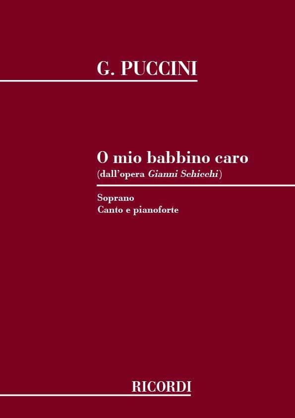 Giacomo Puccini - O Mio Babbino Caro. Gianni Schicchi - Partition - di-arezzo.co.uk