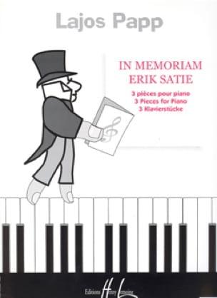 In Memoriam Erik Satie - Lajos Papp - Partition - laflutedepan.com