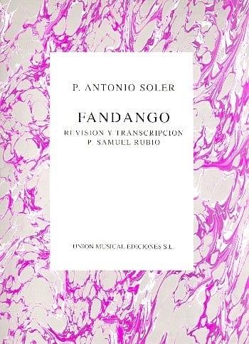 Antonio Soler - Fandango - Partition - di-arezzo.de