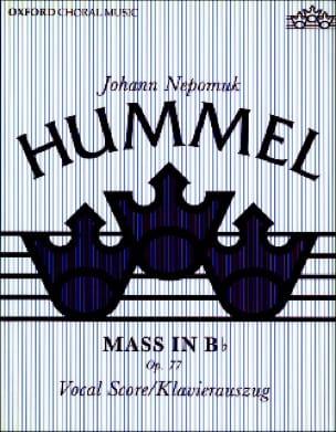 HUMMEL - Mass in B flat Opus 77 - Partition - di-arezzo.com