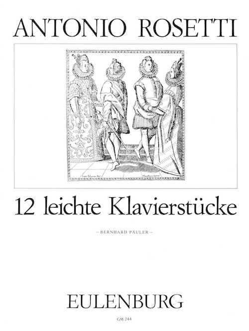 12 Pièces Faciles - Rosetti - Partition - Clavecin - laflutedepan.com