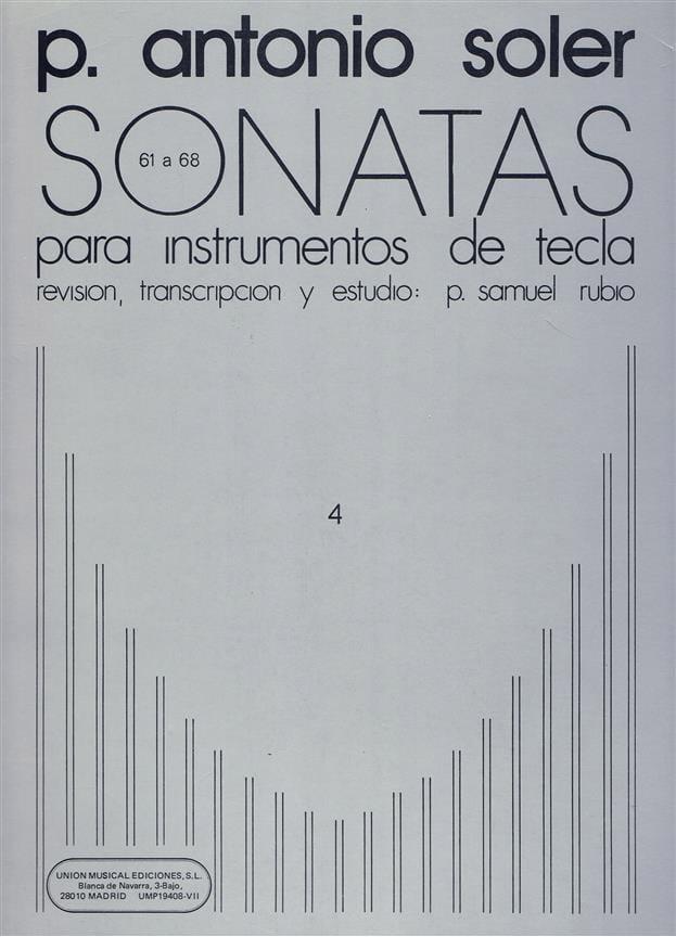 Antonio Soler - Sonaten. Band 4 - Partition - di-arezzo.de