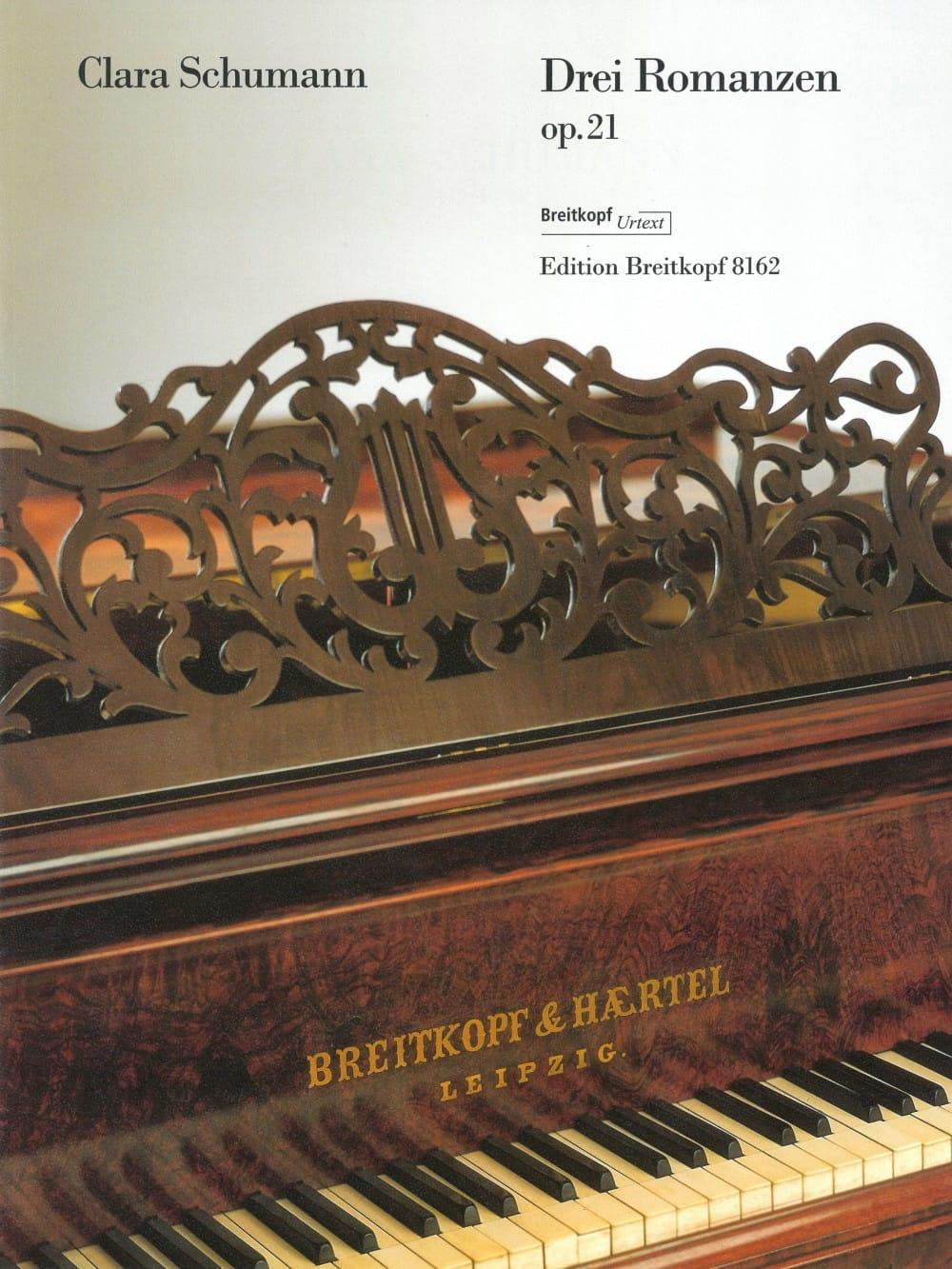 Clara Schumann - 3 Romances Opus 21 - Partition - di-arezzo.fr