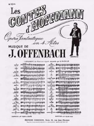 Jacques Offenbach - Barcarolle. Hoffmann Tales. No. 13 Bis - Partition - di-arezzo.co.uk