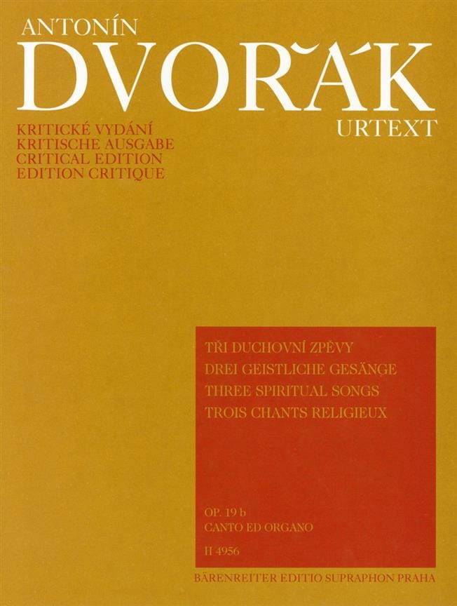DVORAK - 3 Religious Songs Opus 19b - Partition - di-arezzo.co.uk