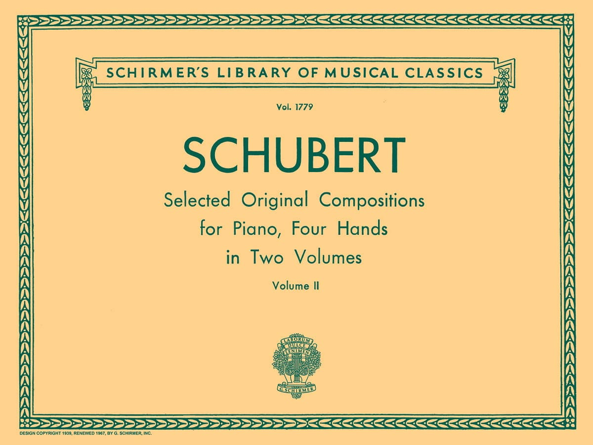 SCHUBERT - Works For 4 Hands Volume 2 - Partition - di-arezzo.co.uk