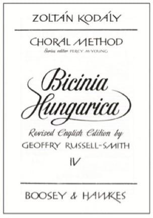 Bicinia Hungarica Volume 4 - KODALY - Partition - laflutedepan.com