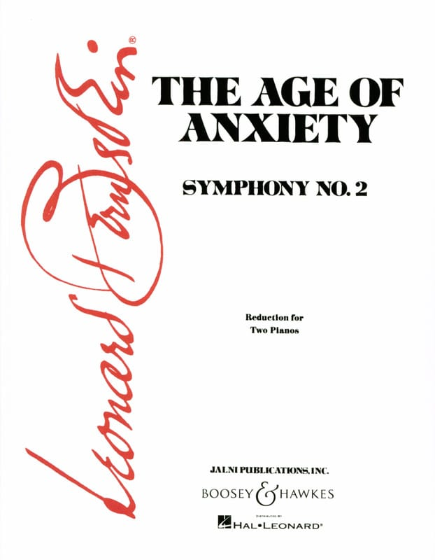 The Age Of Anxiety. 2 Pianos - BERNSTEIN - laflutedepan.com