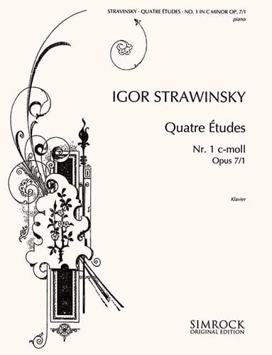 Igor Stravinski - 4 Opus Studies 7-1 - Partition - di-arezzo.co.uk