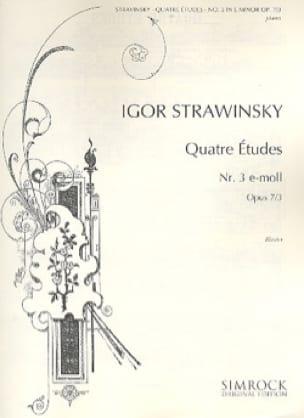 Igor Stravinski - 4 Opus Studies 7-3 - Partition - di-arezzo.co.uk