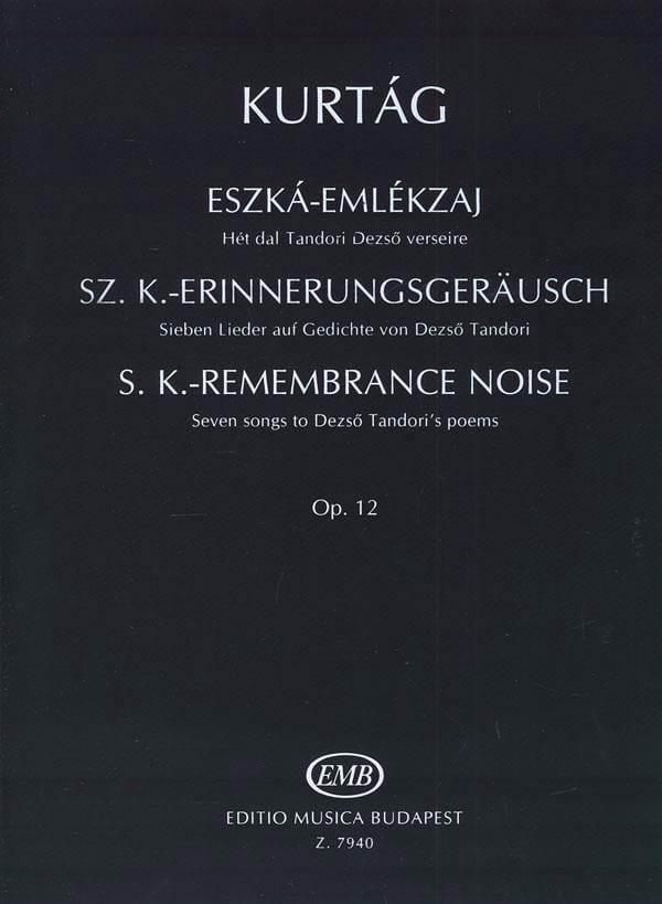 Eszka- Emlekzaj Opus 12. - KURTAG - Partition - laflutedepan.com