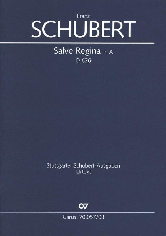 Salve Regina D 676 En La Majeur - SCHUBERT - laflutedepan.com