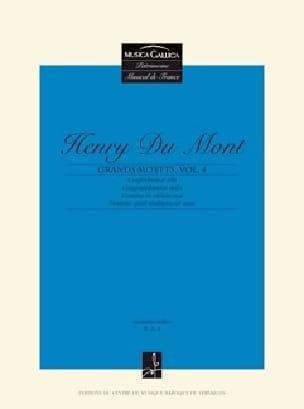 Grands Motets Volume 4 - Henry Dumont - Partition - laflutedepan.com