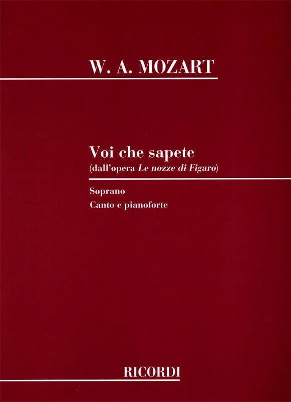 MOZART - Voi Che Sapete. Nozzi Di Figaro - Partition - di-arezzo.co.uk