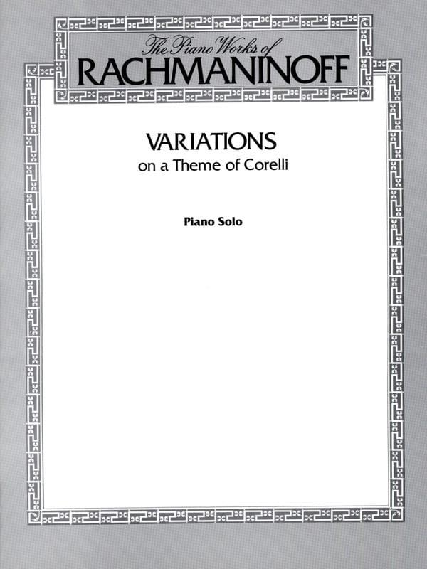 RACHMANINOV - Variations on a Corelli Theme. Opus 42 - Partition - di-arezzo.co.uk