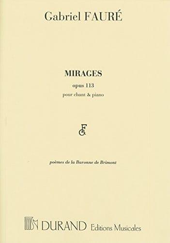 Gabriel Fauré - mirages - Partition - di-arezzo.com