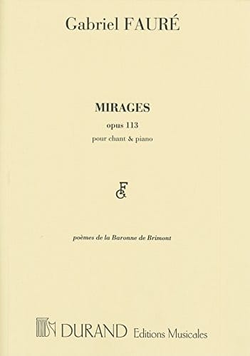 Gabriel Fauré - espejismos - Partition - di-arezzo.es