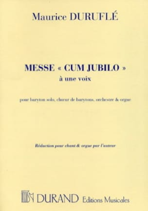 Maurice Duruflé - Mass Cum Jubilo Opus 11 - Partition - di-arezzo.co.uk