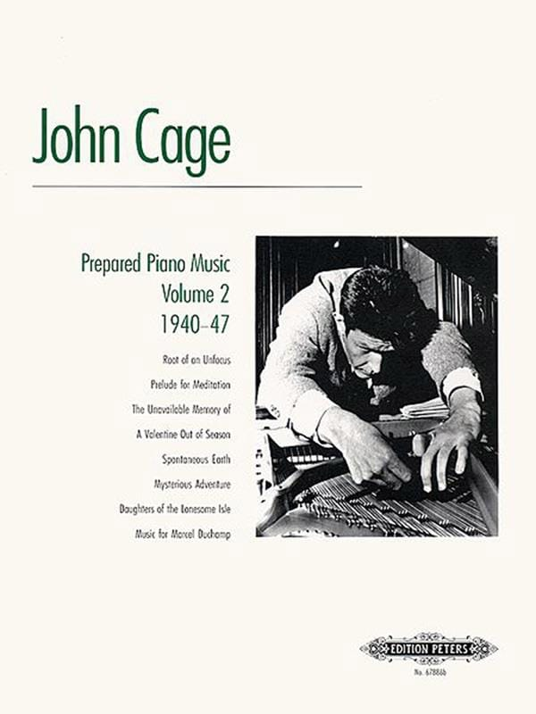 John Cage - Prepared Piano Music Volume 2 - Partition - di-arezzo.com