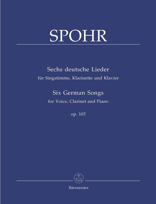 Ludwig Spohr - 6 Deutsche Lieder Opus 103 - Partition - di-arezzo.com