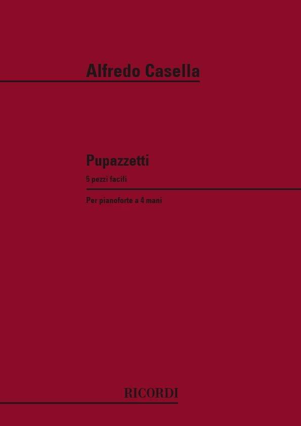 Pupazzetti 4 Mains - Alfredo Casella - Partition - laflutedepan.com