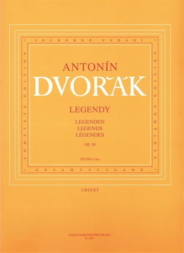 DVORAK - Legends Opus 59. 4 Hands - Partition - di-arezzo.co.uk