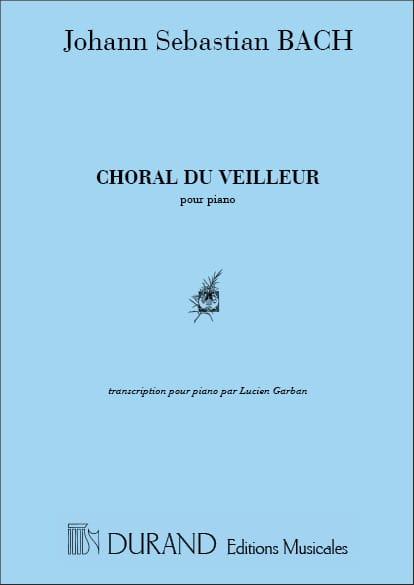 Choral Du Veilleur Piano - BACH - Partition - laflutedepan.com