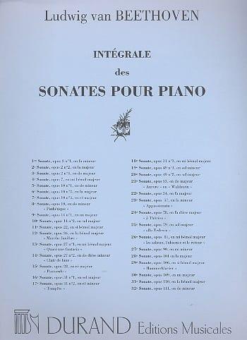 Ludwig van Beethoven - Sonata No. 10 Op. 14-2 - Partition - di-arezzo.com