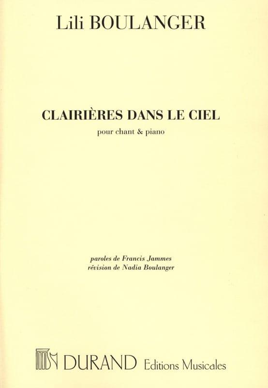 Lili Boulanger - Glades In The Sky - Partition - di-arezzo.com