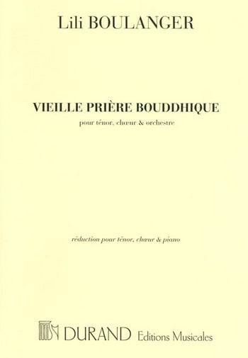 Lili Boulanger - Vieille Prière Bouddhique - Partition - di-arezzo.fr