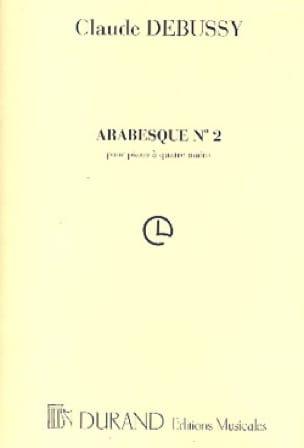 2ème Arabesque. 4 Mains - DEBUSSY - Partition - laflutedepan.com