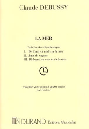La Mer. 4 Mains - DEBUSSY - Partition - Piano - laflutedepan.com