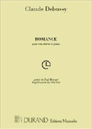 DEBUSSY - Romance - Partition - di-arezzo.co.uk