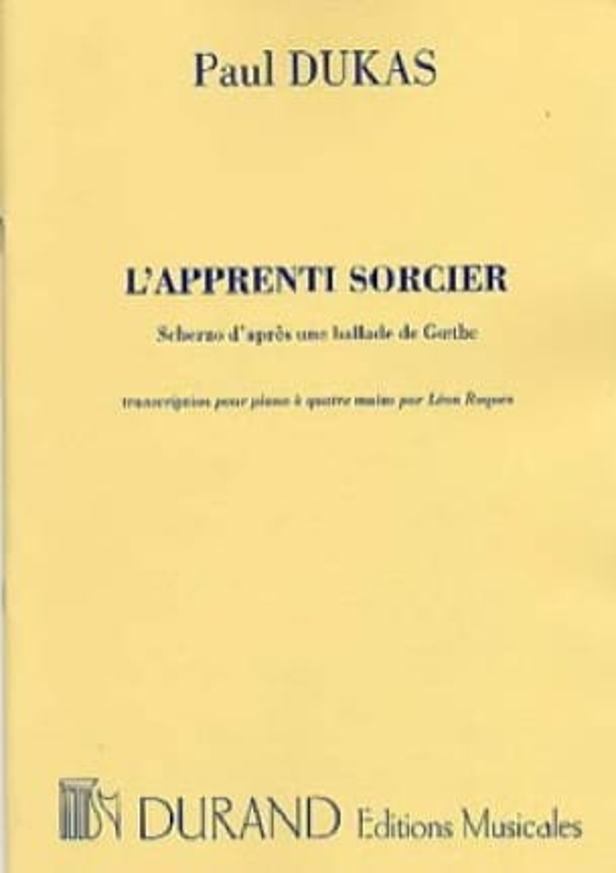 L' Apprenti Sorcier. 4 Mains - DUKAS - Partition - laflutedepan.com