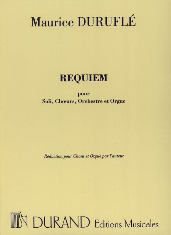 Maurice Duruflé - Requiem Opus 9 Choir and Organ - Partition - di-arezzo.co.uk